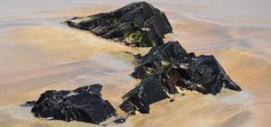 Steine am Strand von El Cotillo