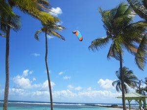 Kitesurfen auf Guadeloupe