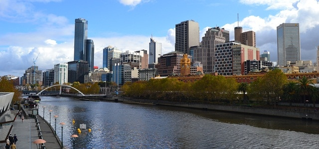 Skyline und Fluss von Melbourne