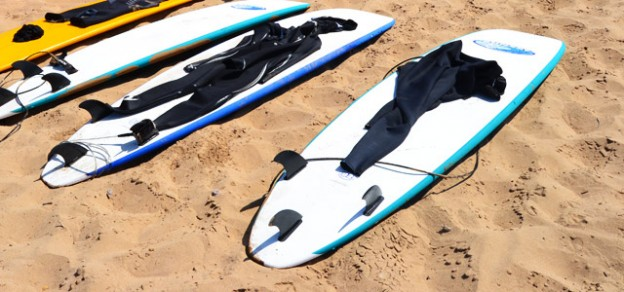 Surfboards am Strand