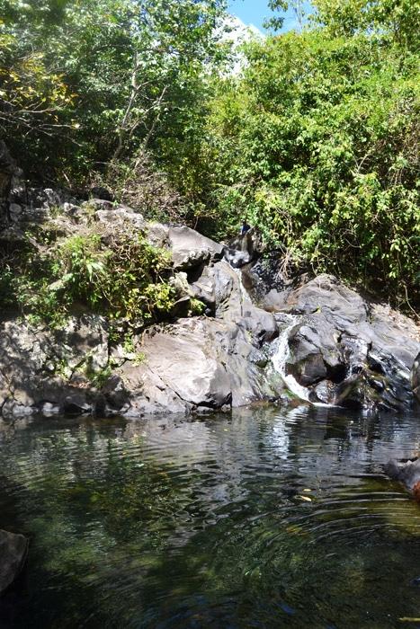 Wasserfall und Quelle auf Guadeloupe