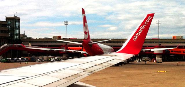 Airberlin Flugzeuge am Flughafen
