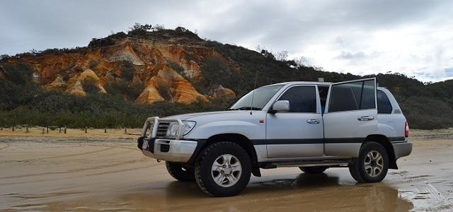 Jeep auf Fraser Island, Australien