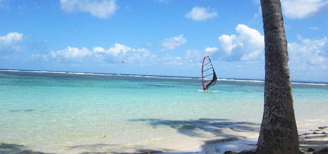 Windsurfer in der Karibik