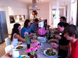 Abendessen mit Fernanda Brandao