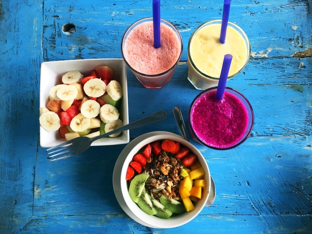 Bali Frühstück: Säfte und Smoothies