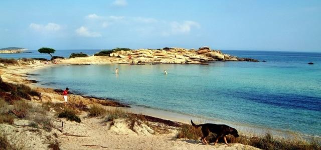 Strand in Chalkidiki, Griechenland