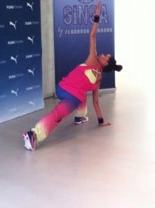 Fernanda Brandao beim GINGA Workout