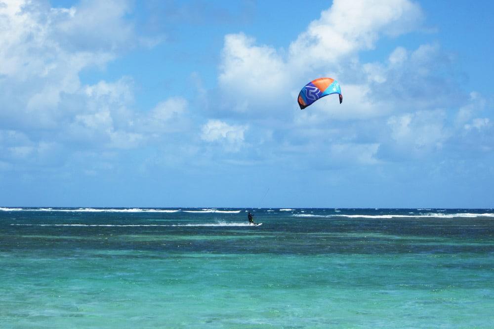 Kitesurfen auf Guadeloupe Grande Terre