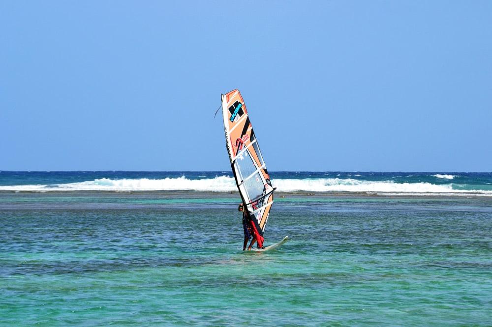 Windsurfen auf Guadeloupe Grande Terre