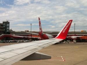 Ist Fliegen noch sicher: Air Berlin Flugzeuge