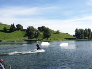 Impark2014 in München Wakeboarden am Olympiasee