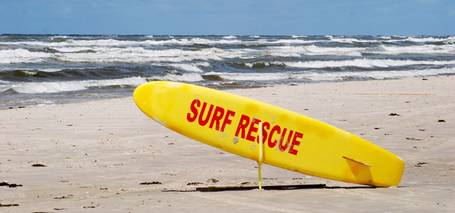 Surfboard am Strand