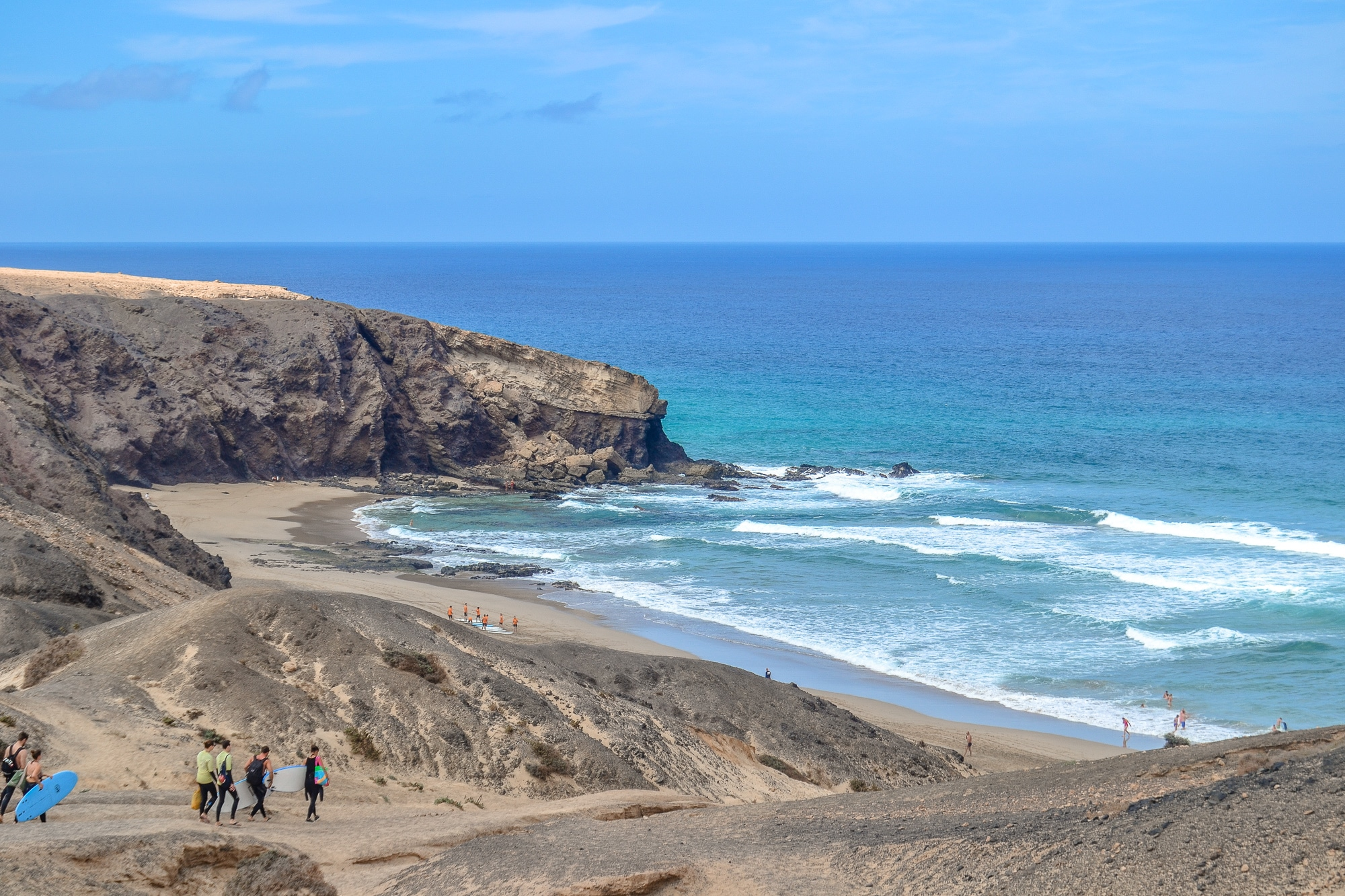 Blick von Fuerteventura auf Lanzarote