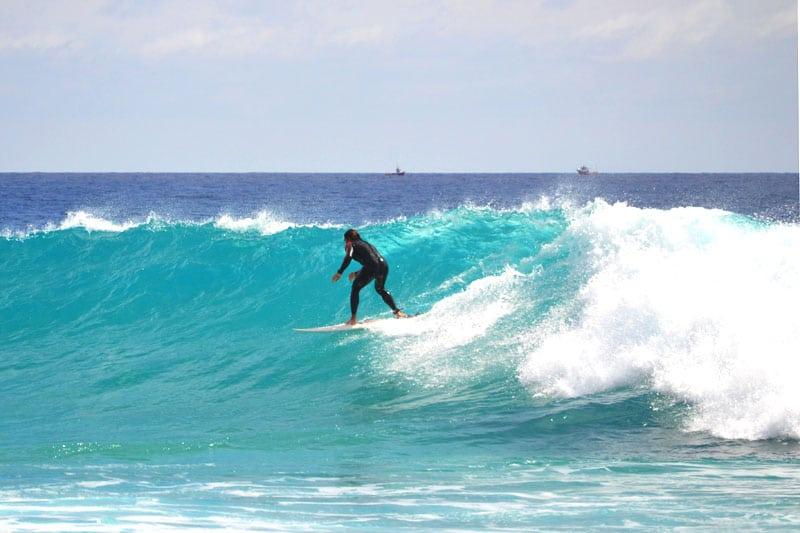 Surfer am Cruz Roja, Fuerteventura