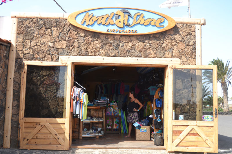 Northshore Surfshop in Lajares, Fuerteventura