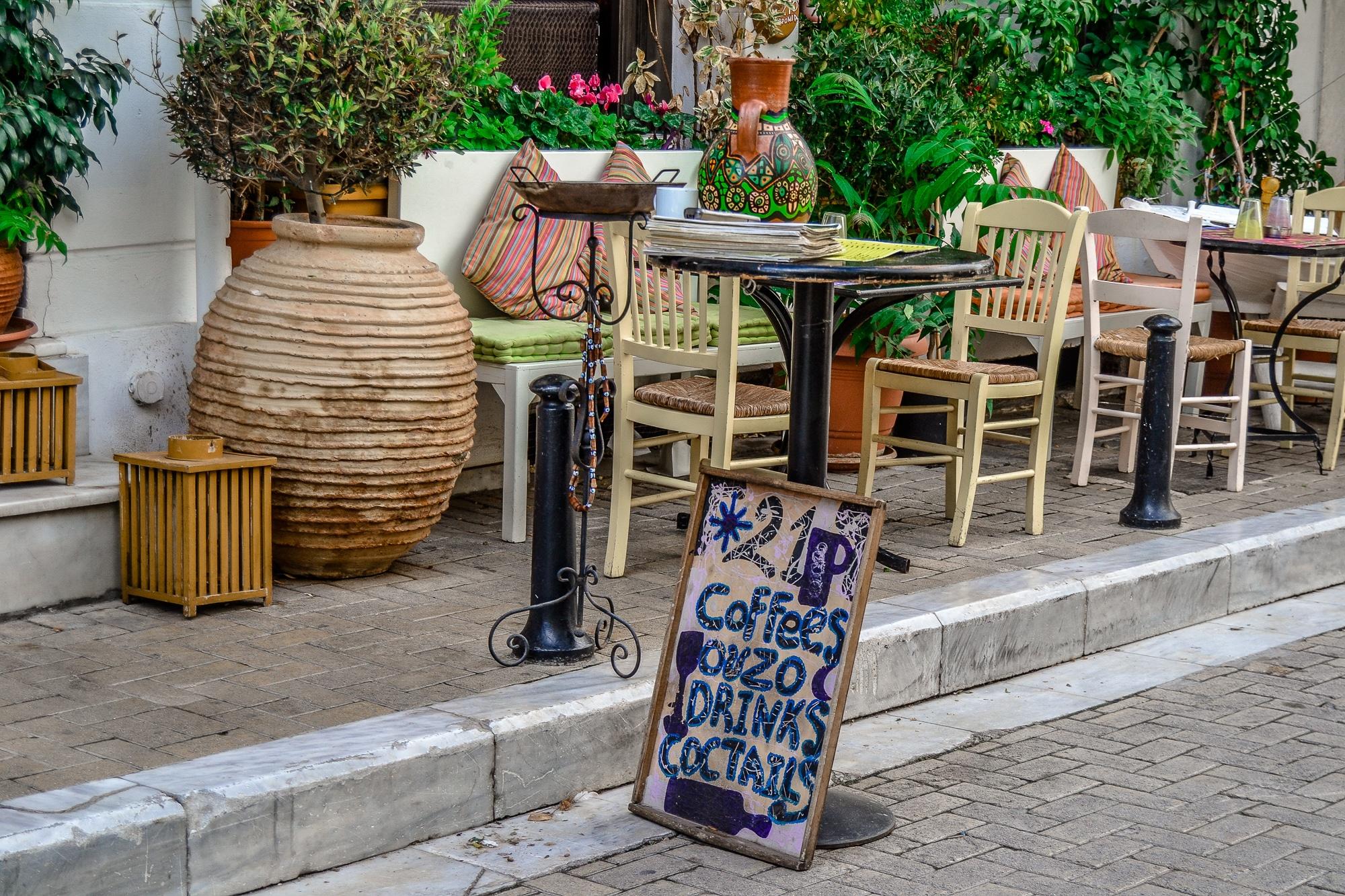 Straßenschild in Athen