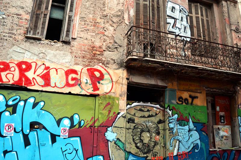 Straßenkunst in Athen
