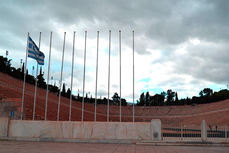 Athen mit dem Fahrrad: Stadion von Athen