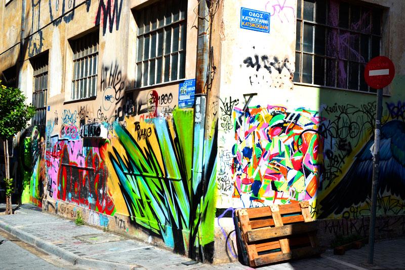 Athen mit dem Fahrrad: Sightseeing und Straßenkunst in Athen