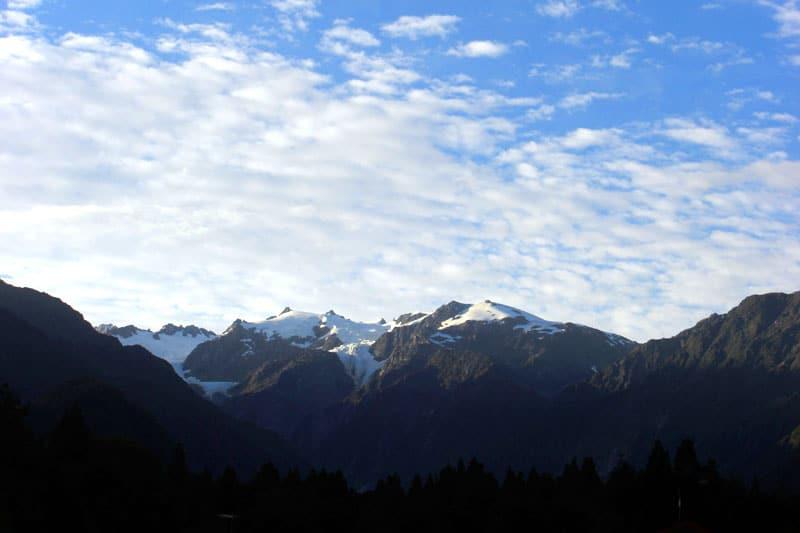 Blick auf den Franz Josef Gletscher in Neuseeland
