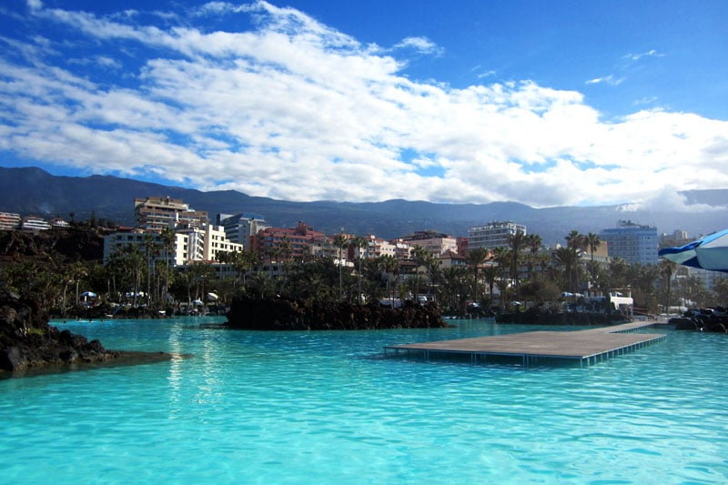 Pools in Puerto de la Cruz, Teneriffa