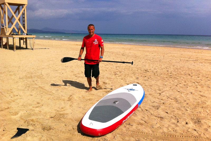 Fuerteventura für Sportler: SUP am Playa Sotavento, Fuerteventura