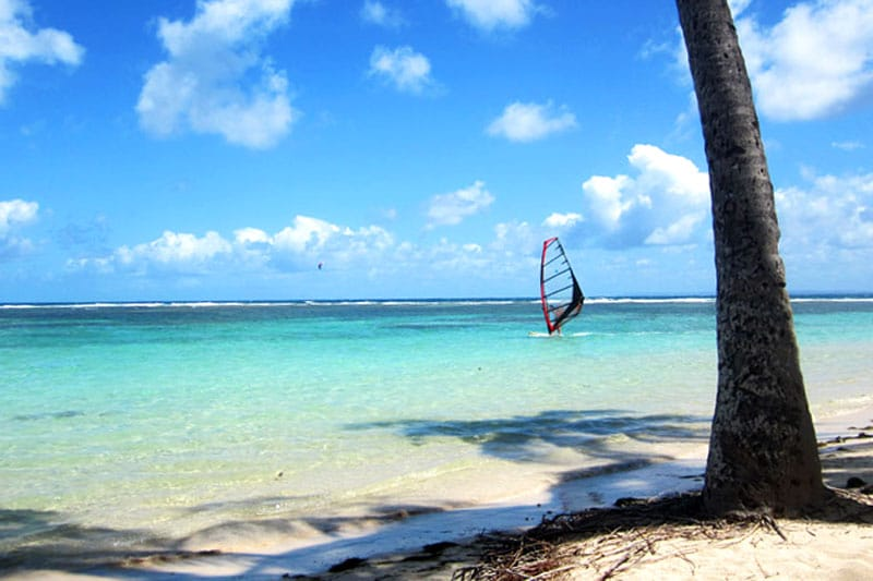 Windsurfen auf Guadeloupe, Karibik