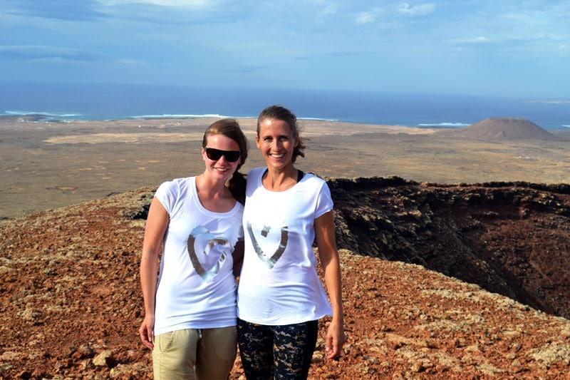 Yoga Friends Fuerteventura: Gipfel des El Colorado Vulkans auf Fuerteventura