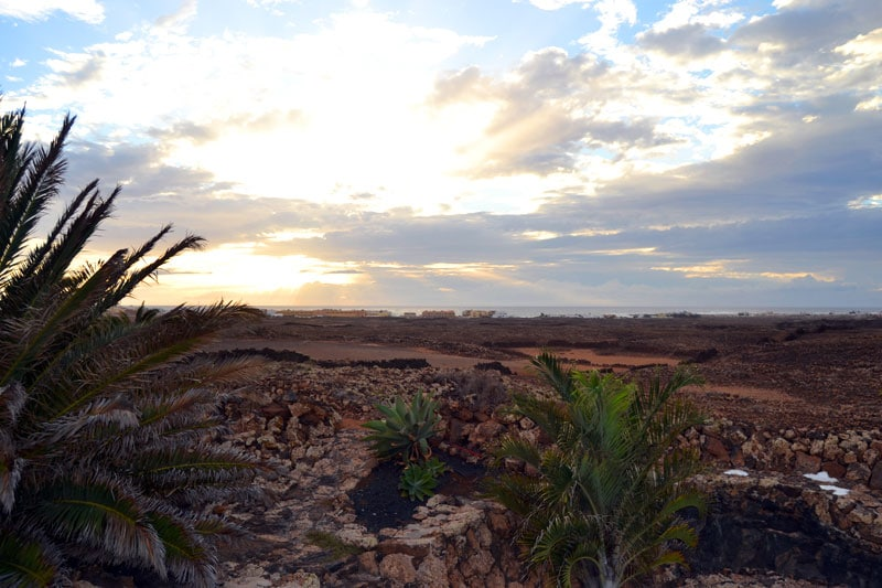 Sonnenuntergang über der Casa Yoga in El Roque