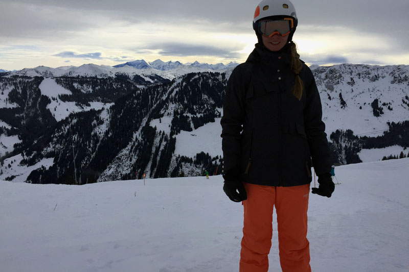 Skifahren in Garmisch mit der Roxy Sunset Art