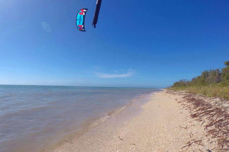 Kiteboarden auf Kuba