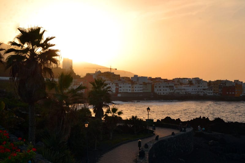 Sonnenuntergang am Playa Jardin Puerto de la Cruz