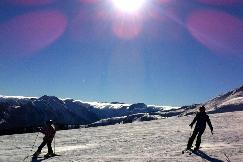 Ski Amade Salzburg Flachau Lensflare