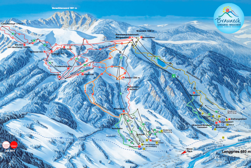 Pistenplan Brauneck Bergbahn