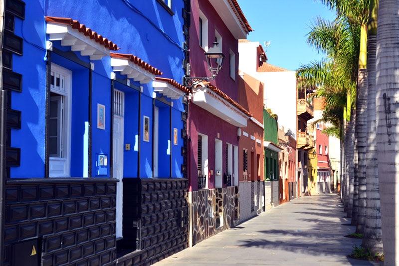 bunte Häuserfassade in Puerto de la Cruz, Teneriffa