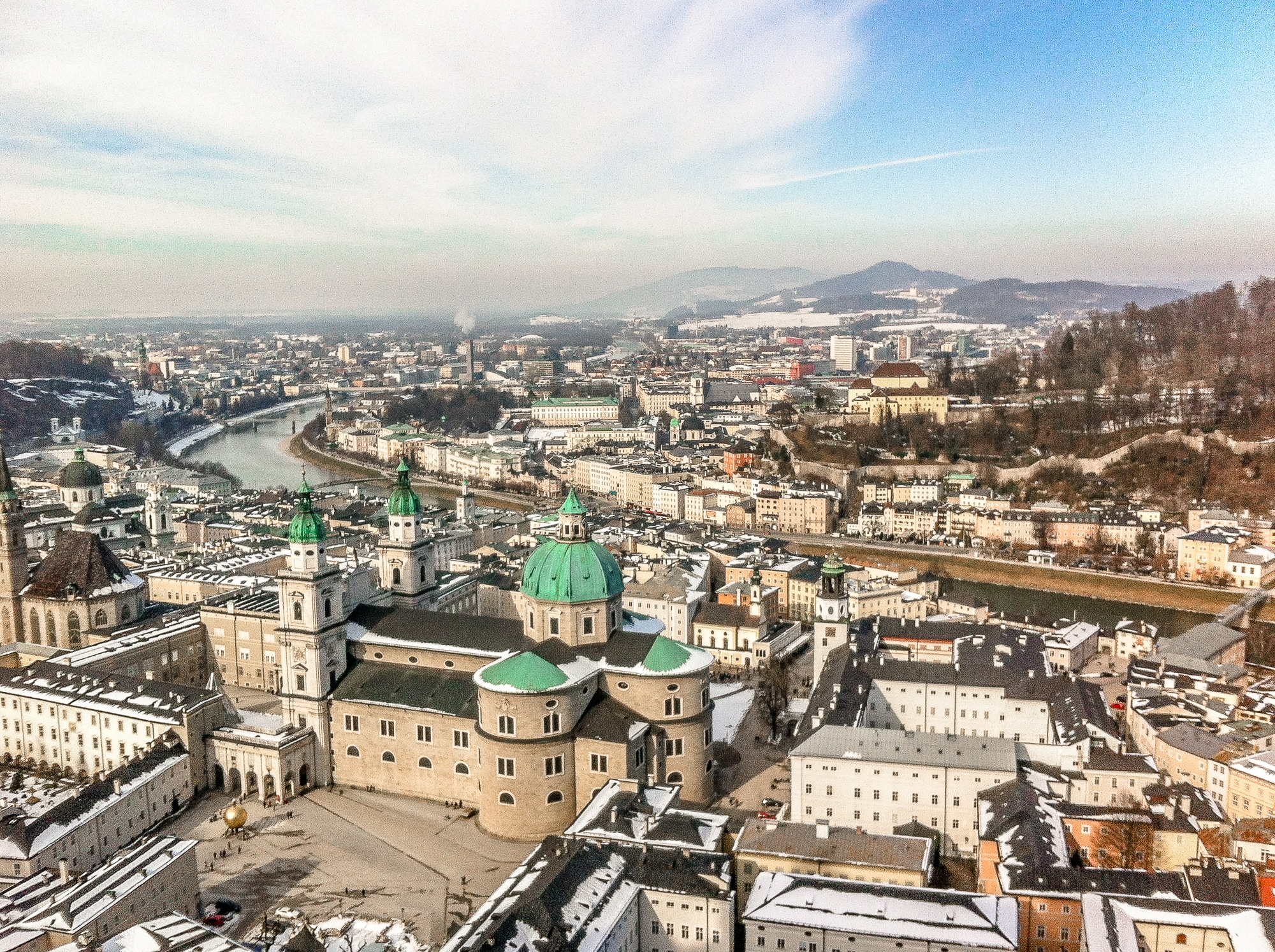 Historische Altstadt in Salzburg