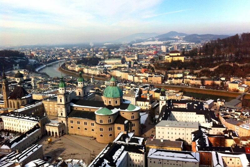Ausblick auf Salzburg von der Festung Hohensalzburg