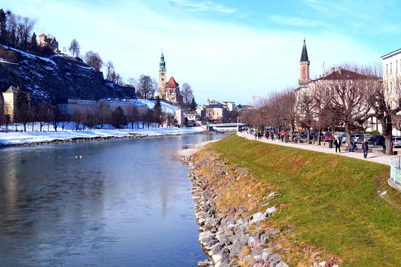 Salzburg Blick auf die Salzach