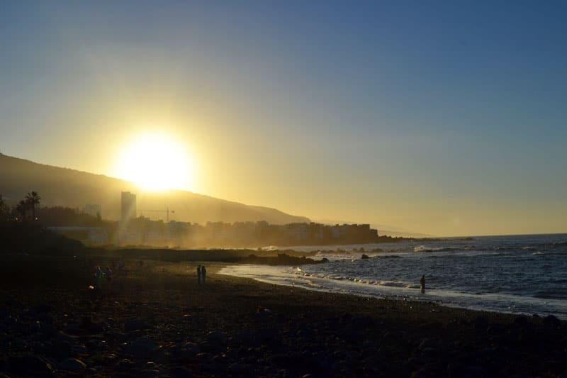 Playa Jardin in Puerto de la Cruz, Teneriffa
