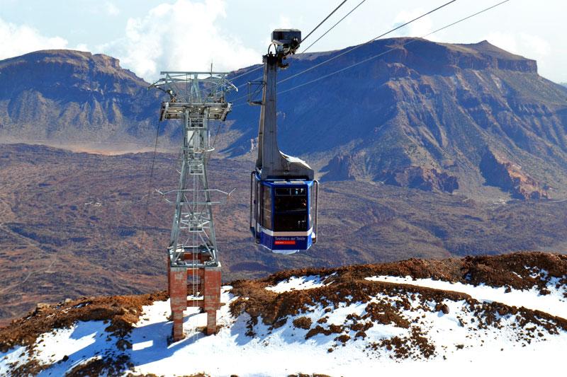 Gondel auf den Pico del Teide Teneriffa
