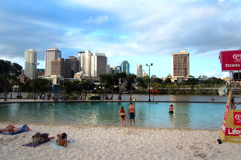 Australien Brisbane South Bank Stadtstrand