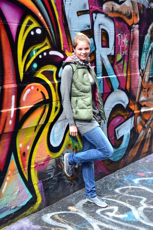 Die Hosier Lane: Graffiti in Melbourne, soweit das Auge reicht