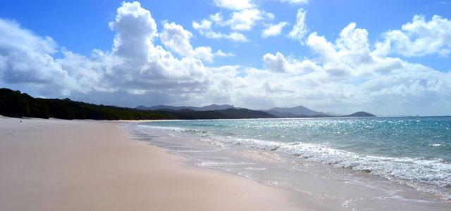 Der Whitehaven Beach auf den Whitsundays in Australien