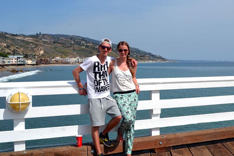 Malibu Beach in Los Angeles, Kalifornien