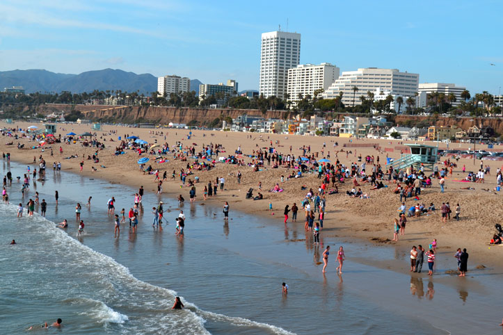 Santa Monica Beach, Los Angeles, Kalifornien
