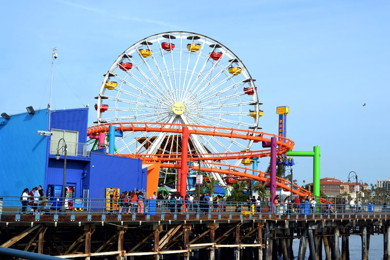 Pacific Park am Santa Monica Pier, Los Angeles, Kalifornien