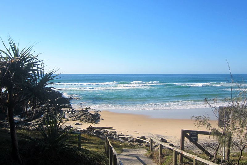 Sunshine Beach in Noosa, Australien