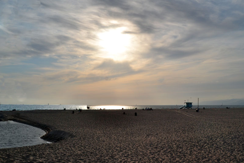 Sonnenuntergang am Venice Beach, Los Angeles, Kalifornien