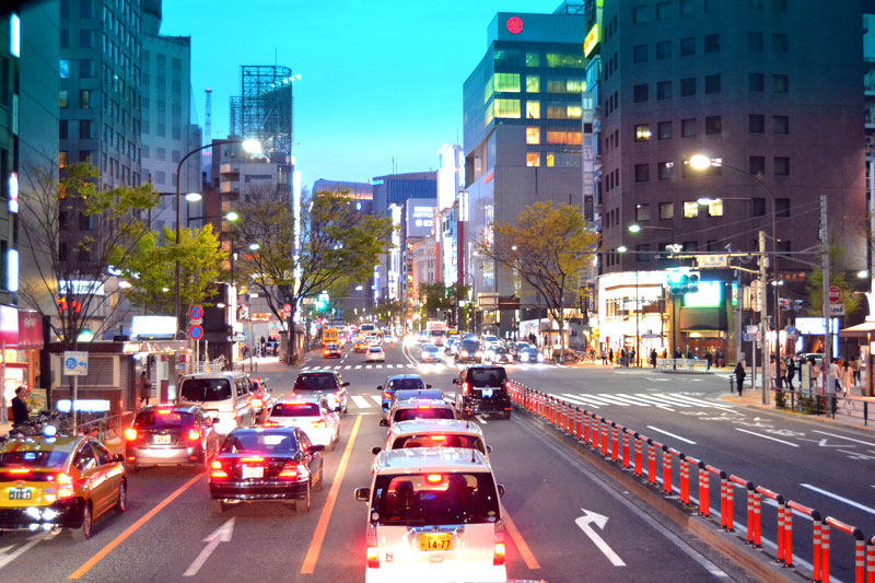 Tokyo bei Nacht Straßenrennen